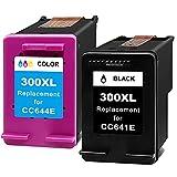 Ink E-Sale Remanufacturado 300XL para Cartuchos HP 300 300XL Compatibles con DeskJet D1620 D2530 D2645 F2410 F4210 F4400 F4500 Envy 100 110 120 D410a PhotoSmart C4600 C4700 D110a,1 Negro 1 Tricolor