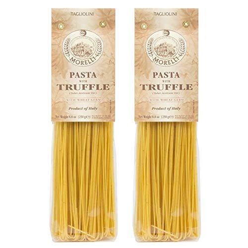 Morelli Italian Pasta Truffle Tagliolini Wheat Flour, Tagliolini Tartufo, 100% Handmade In Italy All Natural 8.8 Ounce / 250g (2 pack)