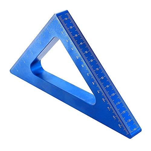 Regla de triángulo de aleación de aluminio, regla de ángulo de 45 90 grados, cuadrados de carpintería, herramientas de carpintería de precisión, herramienta de medición de altura de regla de triángulo