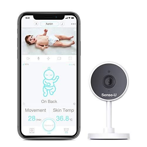 Sense-U Video Baby Monitor con videocamera HD 1080P, audio bidirezionale, visione notturna, WiFi (compatibile con Sense-U Baby Breathing Monitor)
