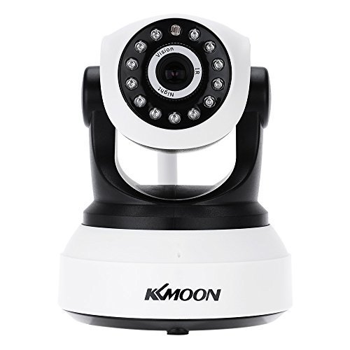 KKmoon Wireless Security Camera,720P,IP Cloud,Indoor Camera,Baby Monitor,Support TF Card Record,2-Way Talk,P2P Android/iOS APP,IR Night Vision,Motion Detection Alarm,for Surveillance Security System