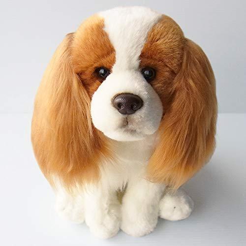 Cavalier King Charles Spaniel Dog (Blenheim) Floppy Soft Cuddly Toy 12 Inch