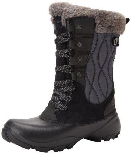 Hot Sale Columbia Women's Snow Canyon Omni Heat Winter Boot,Black/Shale,9 M US