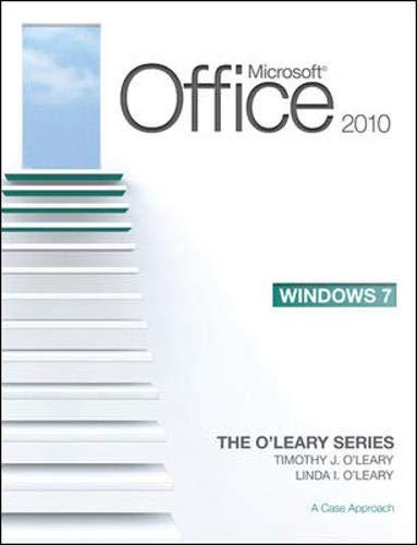 Microsoft Office 2010 Hybrid: A Case Approach (O'Leary)