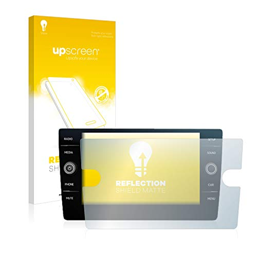 upscreen Entspiegelungs-Schutzfolie kompatibel mit Volkswagen Discover Media Golf Alltrack/Tiguan 2018 – Anti-Reflex Displayschutz-Folie Matt