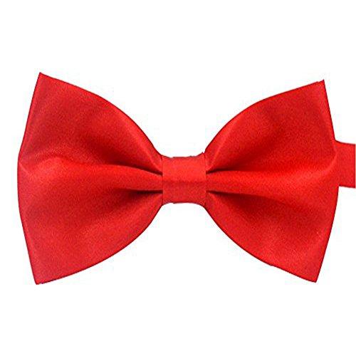 Gespout Pajarita Hombre Navidad Corbata Esmoquin Mujeres Moda Pajaritas Niño Muchacho Accesorios de Ropa con Bowknot Navidad Boda Cosplay Bar Hotel Camarero Poliéster 1pcs 12 * 5.5cm Rojo