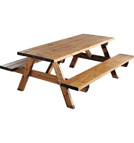 Jardipolys Garden 200B - Table Pique-Nique - teintée Marron - L. 200 cm