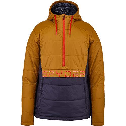 Spyder M Glissade Anorak Jacket Colorblock-Braun, Herren Daunen Softshelljacke, Größe L - Farbe Toasted