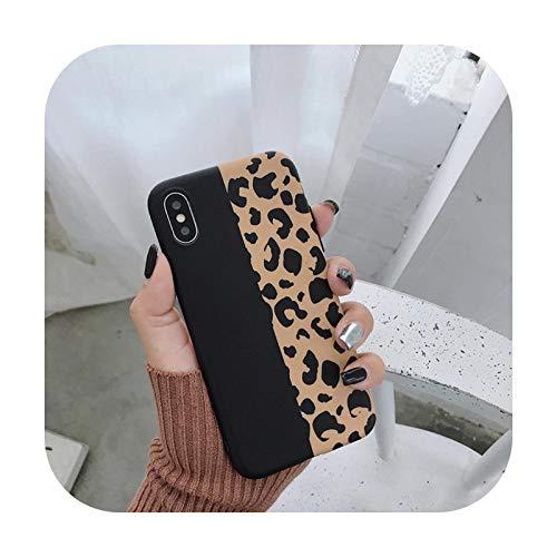 Phone cover Moda Colorido Leopardo Impresión Concha Teléfono Caso Para Iphone 11 12Pro Xs Max Xr X 6 6S 7 8 Plus Cubierta Lujo Suave Casos Capa-G-Para Iphone 12Mini