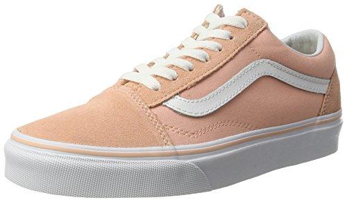 Vans UA Old Skool, Scarpe da Ginnastica Basse Donna, Rosa (Suede Canvas Tropical Peach/True White), 40 EU
