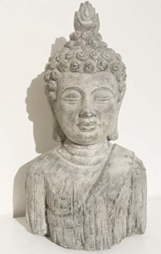 Cabeza de Buda-estatua escultura de jardín a prueba de heladas efecto piedra