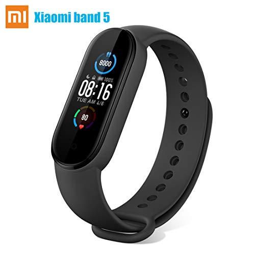 Fitness Tracker Armband Smartwatch für Xiaomi Mi Band 5 Aktivitätsmonitor 5ATM Wasserdicht Pulsmesser/ Schlafmonitor 1.1'' Farbbildschirm Sport Schrittzähler uhr für Damen Herren IOS Android Smartband