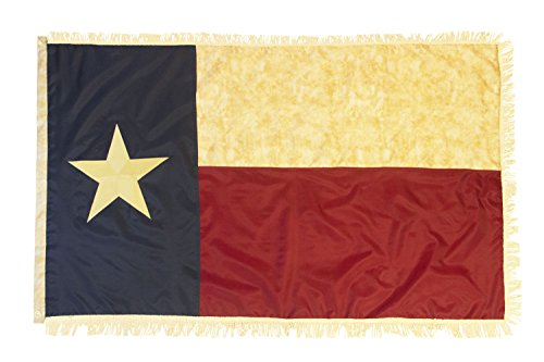 Texas Vintage Flagge W/Gold Fransen–3x 5'Nylon bestickt–Gründerväter Flaggen