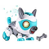 Kearui Robot Dog Toys for 3-8 Years Old Boys and Girls, Smart STEM Puppy Animals Toys for Kids, Educational Interactive Intelligent Gifts for Kids
