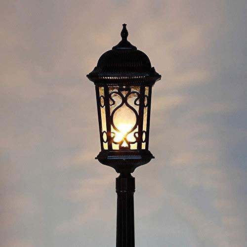 Raelf Outdoor Waterproof Column Light Lawn Light E27 Decorative Street Lamp Villa Floor Lamp Victorian Era Waterproof Street Lamp High Pole Landscape Lamp Courtyard Terrace Footpath Column Lamp Pillar