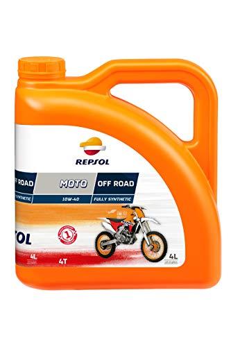 REPSOL Moto Off Road 4T 10W-40 Aceite De Motor Para Moto, 4L