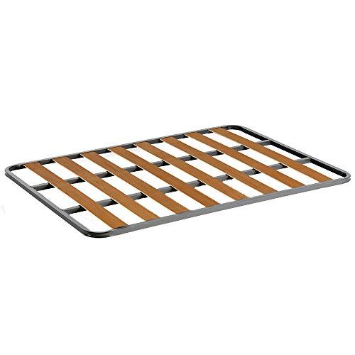 HOGAR24 Somier de Acero con láminas de chopo. Fabricación Nacional. 90x200cm-SIN Patas