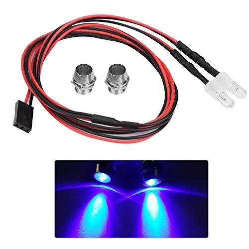 RC LED Luz Kits 2 Piezas, 5mm Faros RC Accesorios Luces LED para 1/10 Modelo Drift Car Vehículo(11# Azul Luz)