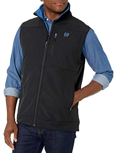 Cinch Men's Concealed Carry Bonded Vest, Black, S