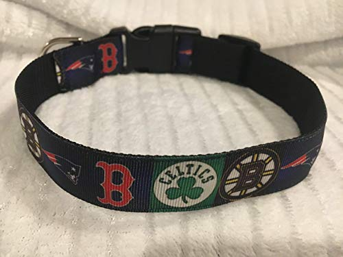 Boston Sports Dog Collar, Puppy Collar, Custom Dog Collar, Personalized Dog Collar, Preppy Collar