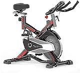 WGFGXQ Bicicleta giratoria Ciclismo en Interiores LCD multifunción Lectura de frecuencia cardíaca, etc. Manillar Ajustable Resistencia del Asiento Bicicleta estática electromagnética para el hogar