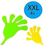 4x XXL Klatschhand Glibber in den Farben Grün/Gelb/Rot/Blau | Mitgebsel Mitbringsel Give aways Scherzartikel Spielspaß | ideal geeignet für den Kindergeburtstag als Gastgeschenk für...