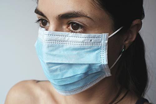 50 Einweg-Gesichts-Masken 3-lagigem medizinische EN14683 geprüfte Einwegmasken Mundschutz Atemschutz Hygienemaske mit elastischem Gummizug atmungsaktiv