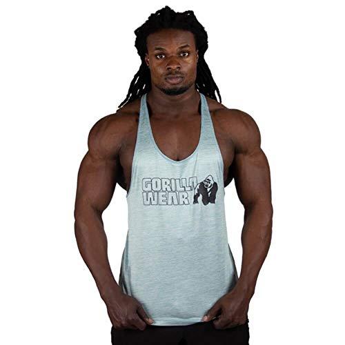 GORILLA WEAR - Stringer Tank Top Herren - Austin - Gym Fitness Bodybuilding Männer Hellgrün 4XL