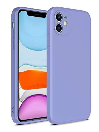 SevenPanda Liquid Silikon Gel Gummi Hülle für iPhone 6S 6 4.7, Individueller Schutz mit Gerader Kante für Jedes Objektiv Voll Schützender, Stoßfester, Ultraflacher (Ausgezeichneter Griff) - Lila