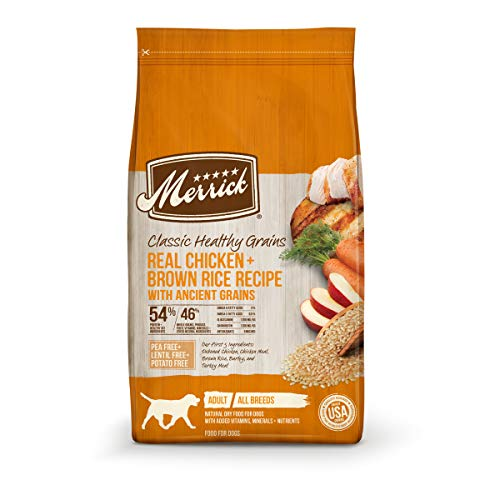 Merrick Dry Dog Food with added Vitamins & Minerals for All Breeds, 12-Pound, Chicken