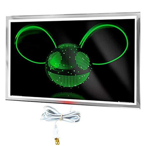 Calefactor Rectangular Ecologico, OthersHeat, MXORH-004, 380W, 110V/1F/60Hz, 3.5A, 90x60x4 cm, Deadmau5 Neon, Litografiado.