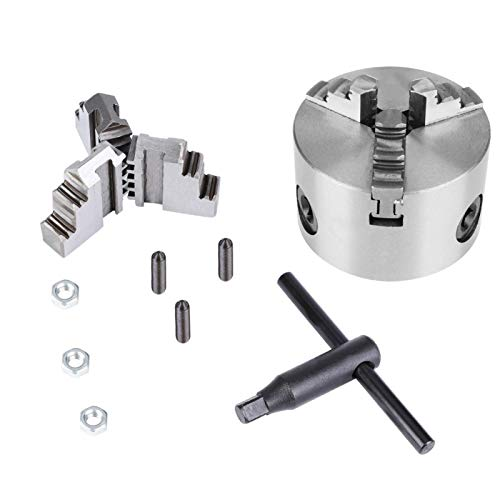 3Inch K11-80 3-Jaw Self-Centering Metal Lathe Chuck with Extra Jaws Turning Machine Accessory Suitble for Extending The Machine Functions