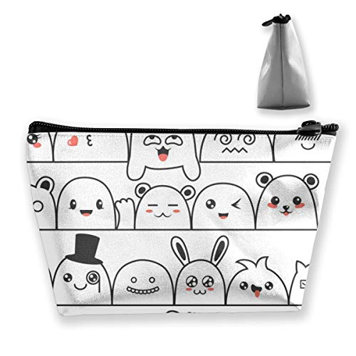 Multi-Functional Print Trapezoidal Storage Bag for Female Seamless Pattern with Lovely