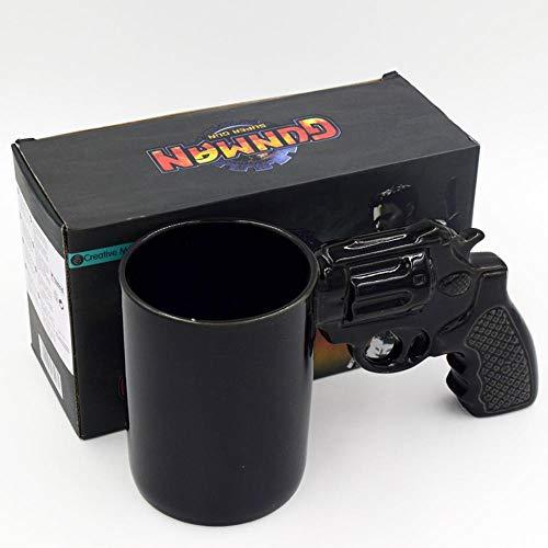 Kreative Persönlichkeit Modellierung Revolver Tasse Schwarze Pistole Keramik Tasse Reine Kaffeetasse Kaffeetassen Kreativ