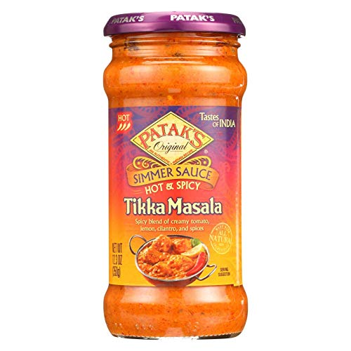 Pataks Hot and Spicy Tikka Masala Sauce, 12.3 Ounce - 6 per case.