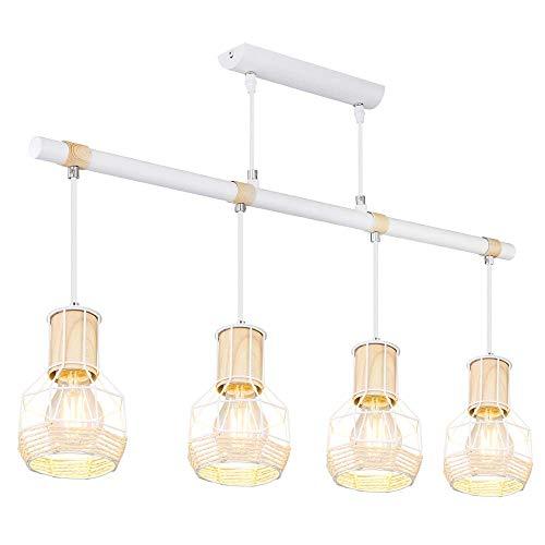 Lámpara colgante de techo con diseño retro, iluminación de madera, para el hogar o el comedor