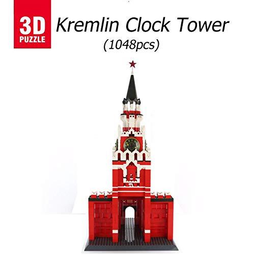 3D puzzle Torre del Reloj del Kremlin, Puzzles 3D Edificio 3D Model Puzzle,Regalos Y Souvenirs para Adultos Y Niños,También Es Muy Bonito Decorar La Habitación con Ellos