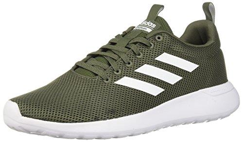adidas Men's Lite Racer CLN Running Shoe, Base Green/White/Black, 5.5 M US