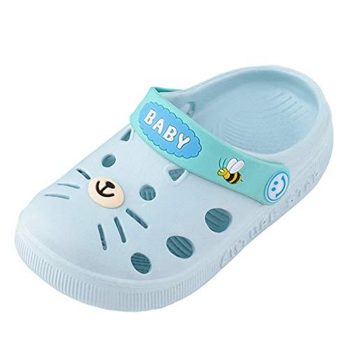 Riou Sandalias y Zapatillas para Niña Niño Zapatillas pequeñas Antideslizantes de Gato Suave de Dibujos Animados Hogar Zapatos de Playa Calzado