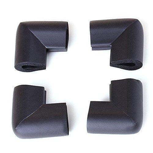 4pcs bambino sicurezza tavolo scrivania ripiano guardia cuscino paraspigoli (nero)