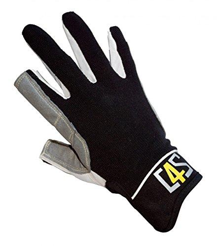 crazy4sailing Damen Herren Segelhandschuhe Offshore - 2 Finger-frei, Farbe:schwarz, Größe:XL