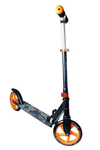 Muuwmi Scooter de Aluminio, 200 mm, Unisex Adulto, 116, Negro / Naranja, Talla única