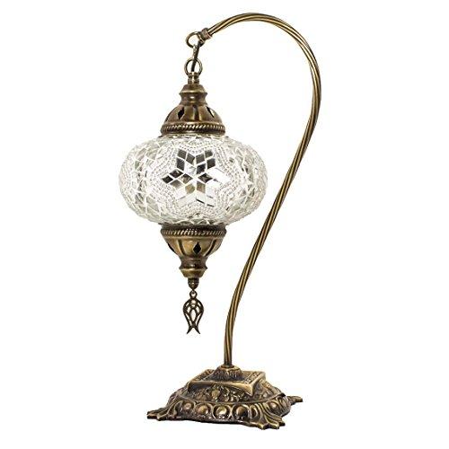 Türkische Mosaik Tisch & Nachttischlampen, atemberaubende marokkanischen Stil, einzigartige Globus Lampenschirm, Schwanen hals Serie