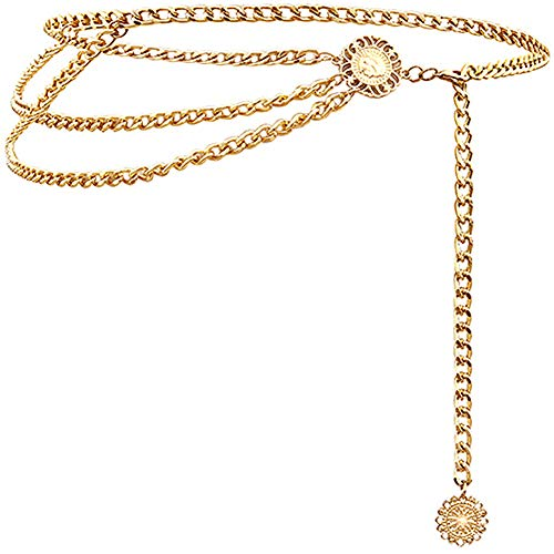 Lamdgbway 3 Pezzi Cintura Elastica in Vita Metallo Donna Vestito Accessori