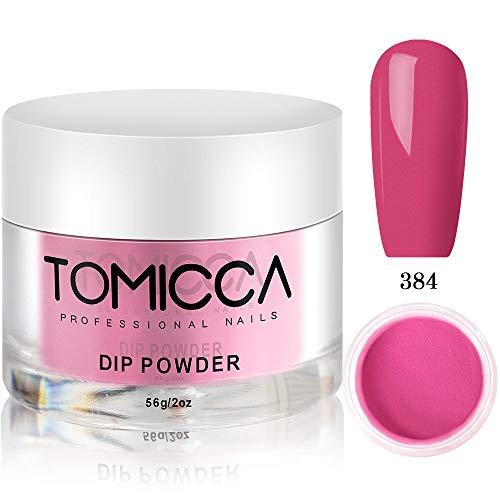 TOMICCA Dipping Powder für Nägel 2 Unzen, Plum red Pflaumenrot Acryl Dip Pulver Nagel, Natural Dry...