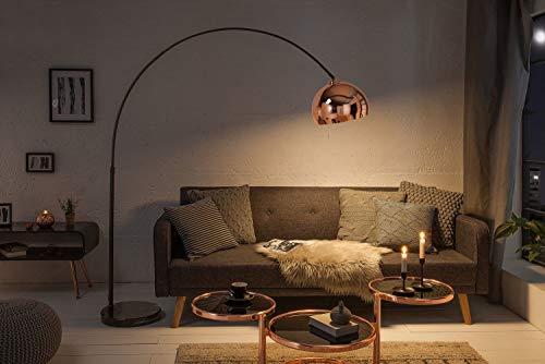 Design Bogenlampe CURVATURA ausziehbar Bauhaus Marmor Fußglanzvoll Wohnzimmer Stehleuchte gebogen
