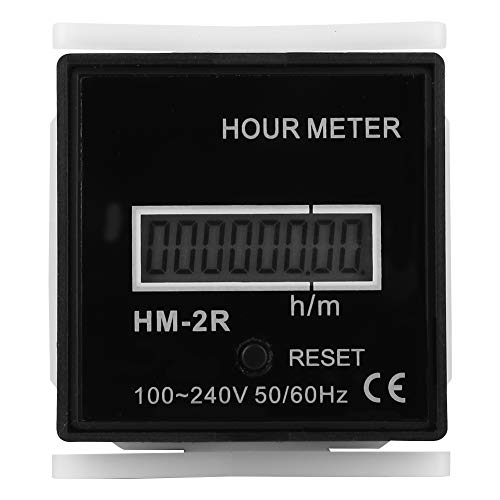 Contador eléctrico digital,1 minuto -999999 horas 59 minutos Contador eléctrico digital LCD...