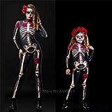 New Rose Skeleton Adult Kid Grusel Kostüm Halloween Kleid Cosplay Sexy Jumpsuit Karneval Party Baby Strampler Tag der Toten-Skelett (EIN Stück)_Höhe 150CM
