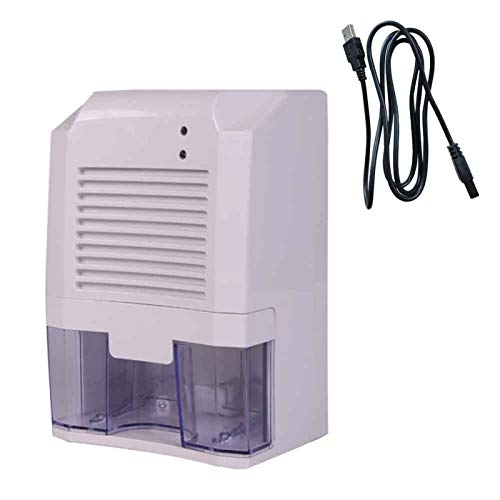 UXELY 800ml Ultra-Quiet Mini Dehumidifier, USB Rechargeable Electric Mini Dehumidifier, Compact and Portable Dehumidifier for High Humidity in Home, Kitchen, Bathroom, Basement