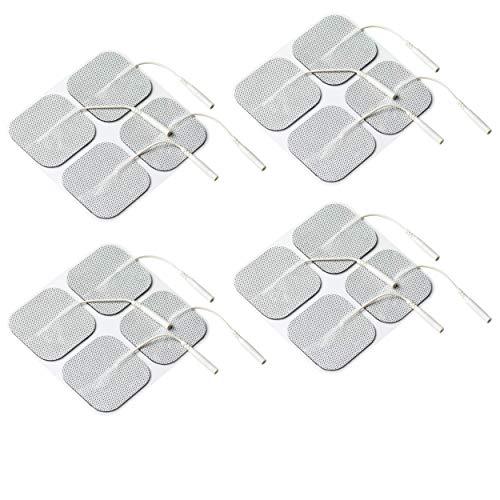 FIAB 16 Universal EMS und TENS Elektroden 50 x 50 mm mit 2 mm Steckanschluß I Selbstklebende Pads für Tensgerät und andere Reizstrom-Geräte I Made in Europe